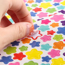 6 Sheets Heart Star Shape Stickers Colorful Reward Sticker Rainbow Praise Label Diary Decor Scrapbook Albums Photo Toys for Kids(China)