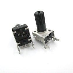 5 unids/lote RV09 WH09 B5K B502 potenciómetro de resistencia ajustable 12,5mm del Eje 3 pines 0932 Horizontal ajustable trim olla