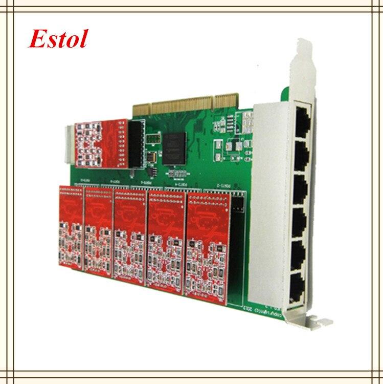 TDM410P 2FXO+2FXS Asterisk card PCI card for elastix trixbox freepbx voip pbx