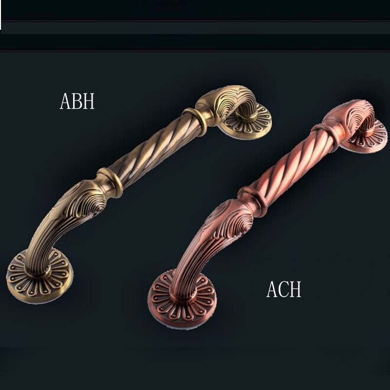 340MM High Quality vintage brass wood door handles Europen style bronze Big Gate door pulls, KTV Hotel Glass door handles 550mm high quality clear crystal glass big gate door handles stainless steel big gate door handle pulls wooden door pulls