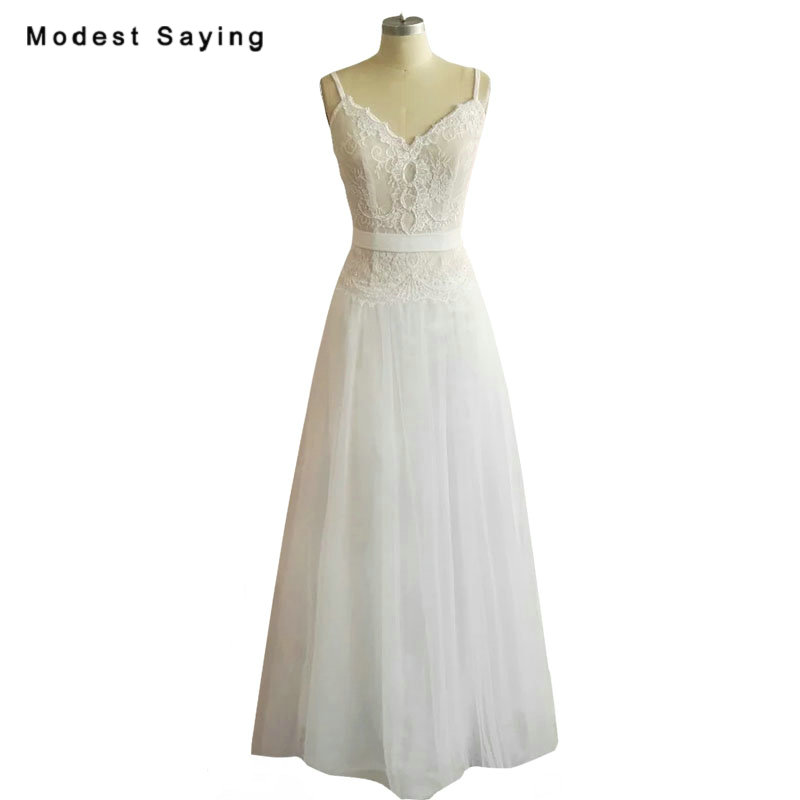 Lace Wedding Gowns With Straps: Aliexpress.com : Buy New Collection 2018 Elegant Nude