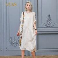 VOA Бежевый Шелковый длинное мусульманское платье Для женщин абайя, арабское платье хиджаб Исламская одежда Дубай vestidos арабское платье в мар