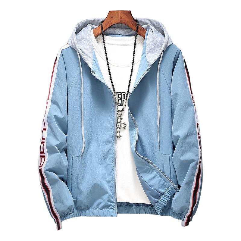 Women Hooded   Jackets   Coats 2019 Spring Causal Stripe   Basic     Jackets   Windbreaker Women Zipper Lightweight   Jackets   Bomber Famale