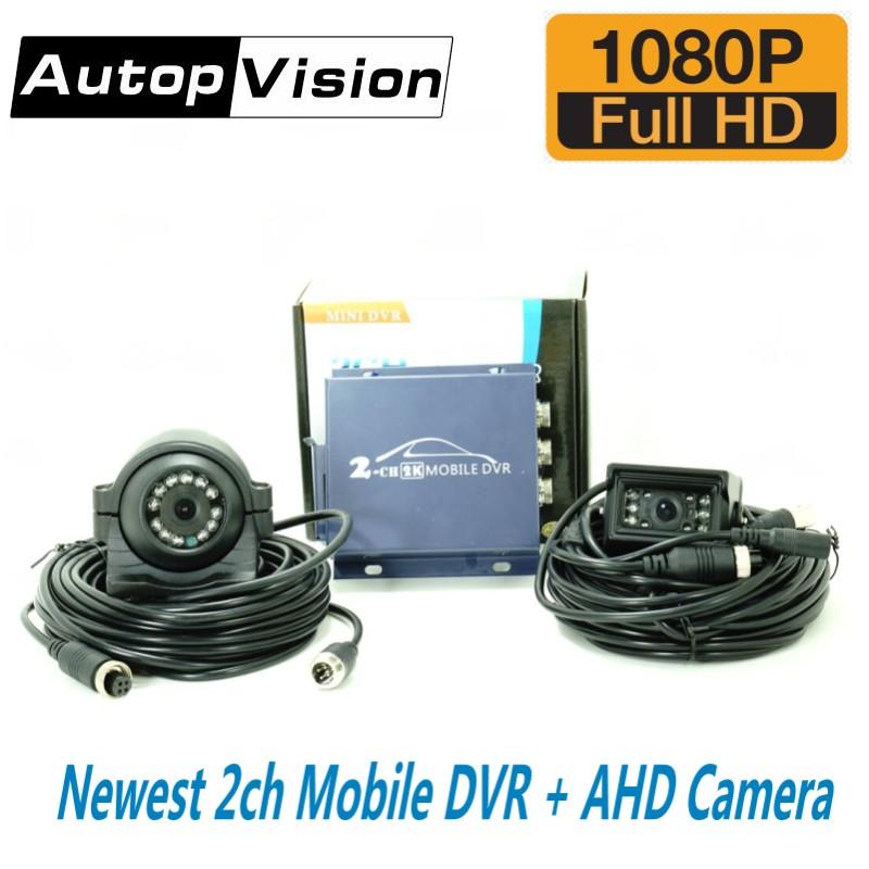 2 Channel mini vehicle DVR for Car/Bus/Home 2CH mini mobile dvr+1080P Cameras support CVBS/AHD 5.0MP Realtime SD Card Mobile DVR