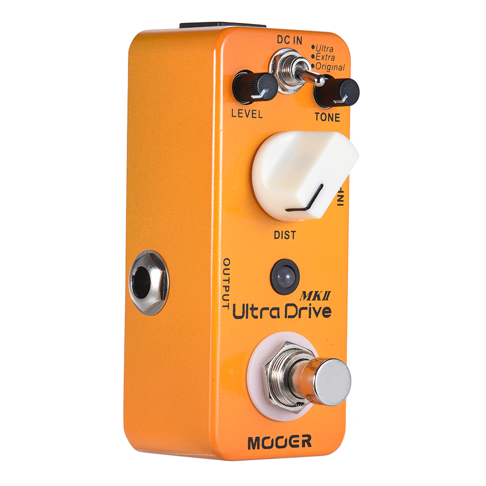 MOOER Ultra Drive MKII Distortion Guitar Effect Pedal 3 Modes True Bypass Full Metal Shell