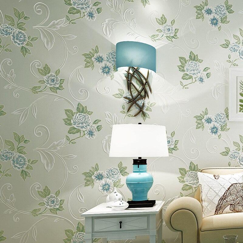 Beibehang papier peint pour murs 3 d HD bronzant chaud européen papier peint pastorale salon chambre fond 3D papier peint rouleau