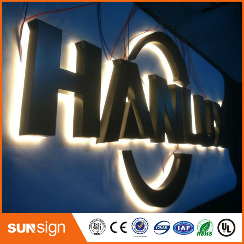 Mirror / Polished Stainless Steel Channel Letter Backlit