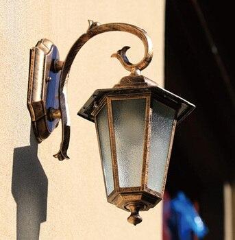 Druckguss aluminium wasserdichte wandleuchte garten außenwandleuchte led außenwandleuchte Enthält led lampe freies verschiffen-in LED Outdoor-Wandlampe aus Licht & Beleuchtung bei
