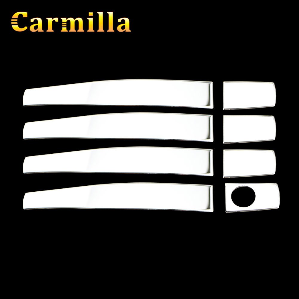 Carmilla Stainless Steel Chrome Car Door Handle Cover Accessories for Chevrolet Chevy Malibu LOVA AVEO Captiva Cruze 2009-2015 car stainless steel headlight switch cover stickers for opel mokka chevrolet cruze sedan hatchback malibu trax auto accessories