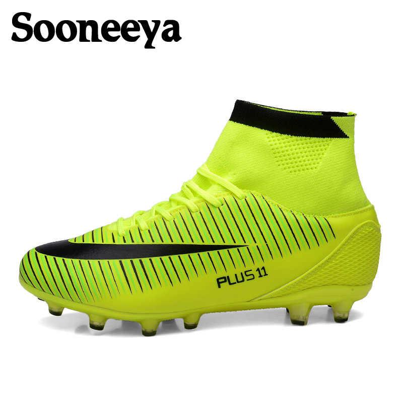 5e41ac0b Sooneeya/длинные шипованные мужские футбольные бутсы с высоким голенищем, детские  футбольные бутсы, детские