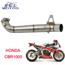 Sclmotos -CBR1000 Stainless Steel Mid Pipe Motorbike Motorcycle Exhaust Muffler Middle Link Pipe for HONDA CBR1000