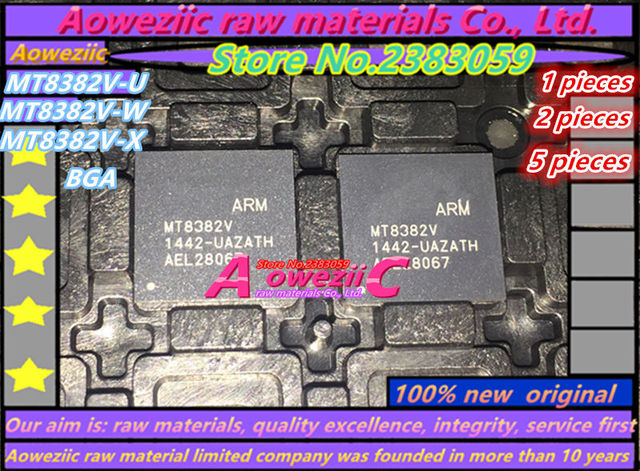 Aoweziic 100% جديد الأصلي MT8382V MT8382V/U/W/X MT8382V U MT8382 W MT8382V X بغا IC رقاقة MT8382