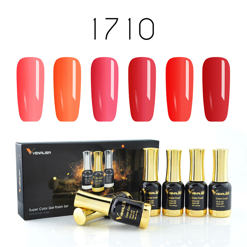 #60751 Venalisa 2019 Neue Mode Neon Nagel Gel Tränken Weg UV 120 Bunte Lange anhaltende gel Nagel Farbe kunst gel nagellack