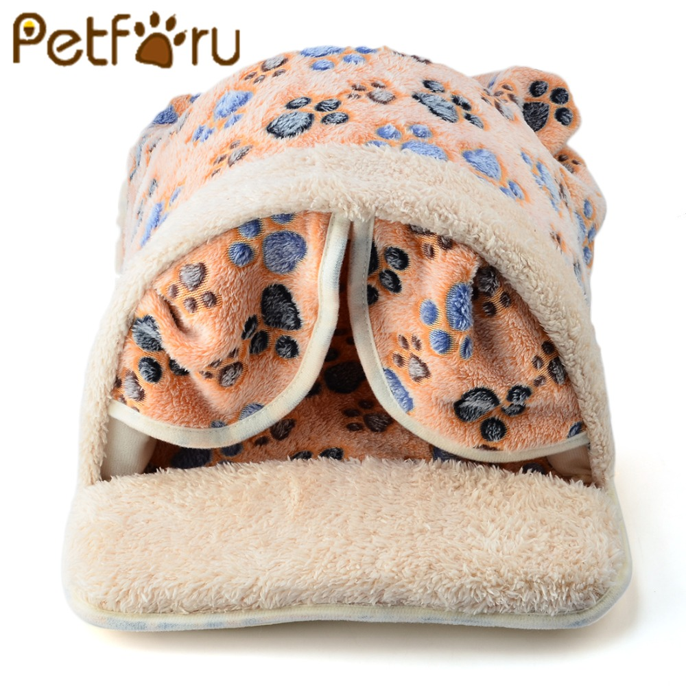 Petforu Cat Warm House Cotton Nest Sleeping Cushion Pad House Hut Pet Puppy Dog Beds Kennel Nest Bed Pet Product