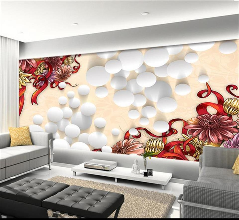 popular sunflower wall murals buy cheap sunflower wall murals lots 3d wallpaper custom photo picture non woven mural sunflower round vector painting 3d wall murals