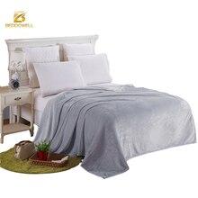 Textil hogar manta de Franela Coral Manta de lana Color Sólido de Poliéster 230X250 CM King Size Warm Soft Adultos Mantas A Cuadros en La Cama