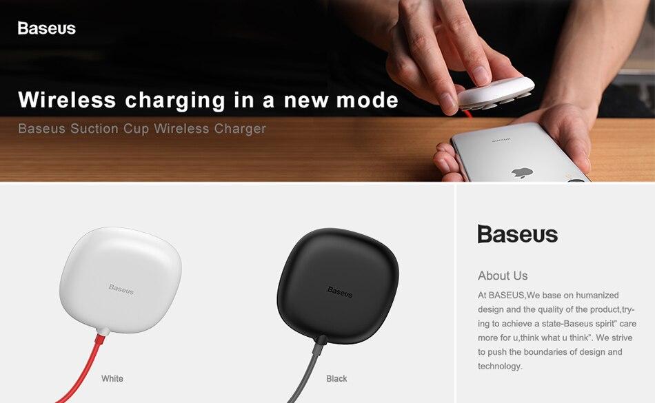 As 10 Watt Spinne Saugnapf Drahtlose Ladegerät Für Iphone X Xr Xs 8 Tragbare Schnelle Drahtlose Aufladen Pad Für Samsung Hinweis 9 8 S9 S8 Handy-zubehör
