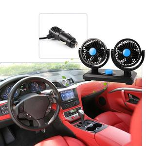 Image 4 - Car Fan Car With Double Head Summer Usb Fan Car Van Truck Mini Adjustable Fan Usb Fan Creative Gift