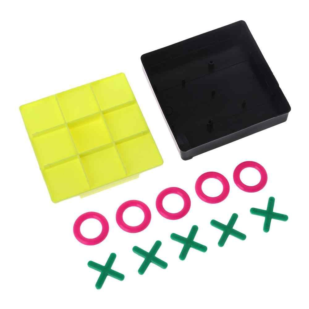 البلاستيك O X تيك تاك تو الشطرنج قطعة مجموعة ألعاب الاطفال الدماغ دعابة الطفل في وقت مبكر تطوير الذكاء التعليمي ممارسة أداة B