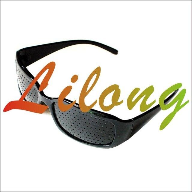 Pinhole glasses black pinhole glasses double