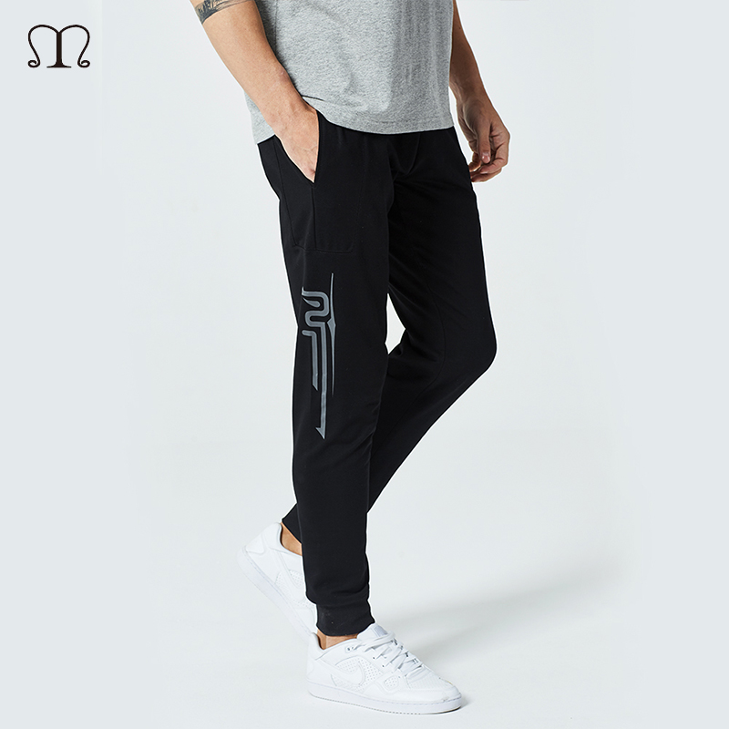 2018 Men Gyms Pants Casual Elastic cotton Mens Fitness Workout Pants Skinny Sweatpants Fashion Print Trousers Mens Jogger Pants