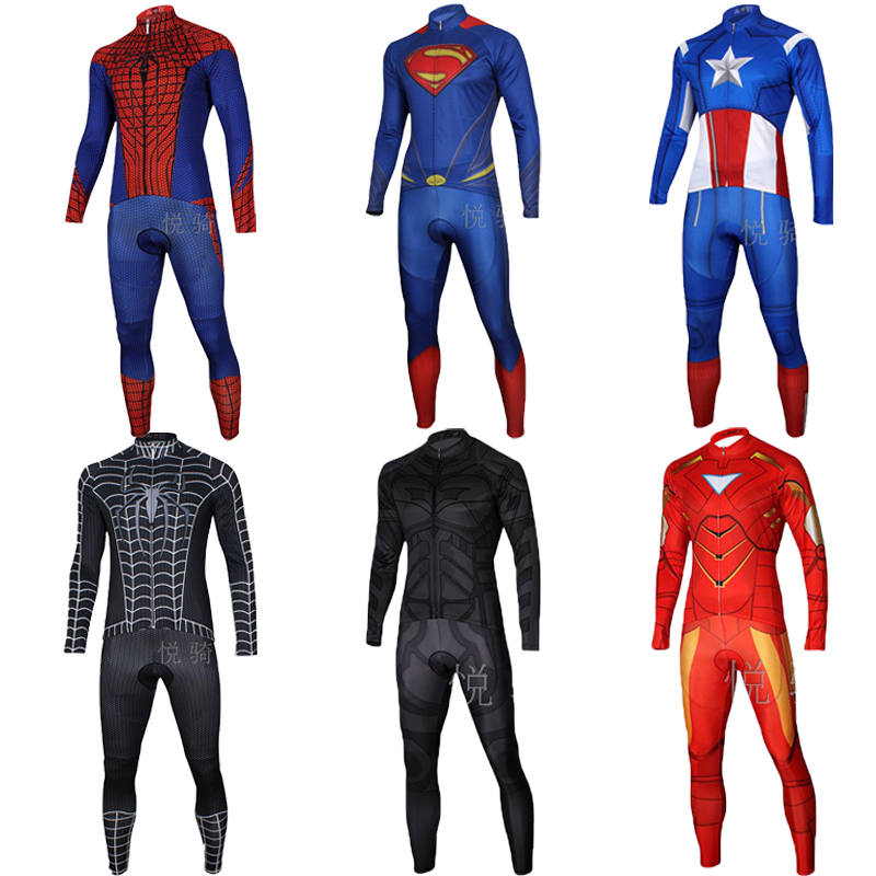 Super hero cycling jersey set men 2019 maillot mtb bike clothing pro gel bib pants bicycle clothes triathlon suit uniform dress