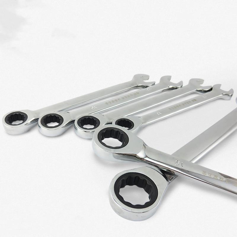Zestaw kluczy płasko-oczkowych z grzechotką Narzędzia ręczne - Narzędzia ręczne - Zdjęcie 5