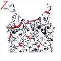 2017 mulheres de verão de algodão confortável harajuku cão dos desenhos animados imprimir short slim elástico parte superior do tanque de férias