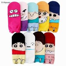 New Cute Cartoon Dog Pig 3D Printing Socks Funny Unisex Sox Crayon Shin Chan Femmes Men Male Short Sock Colorful Breathabl