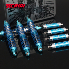 Rc crawler car upgrade parts 4pcs negative pressure shock absorber sets for 1/10 rc axial scx10 2 ii jeep 90046 4wd d90 tf2 trx4 1 10 blue alloy magnetic stealth invisible body post mount rc car boat buggy 4pcs set for axial scx10 4wd electric rc car
