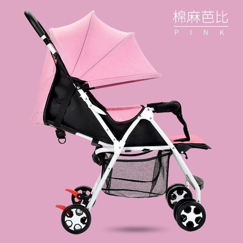 Baby stroller ultra light seated folding four-wheel children's umbrella baby BB push stroller baby stroller light portable four wheel car umbrella suspension folding baby stroller