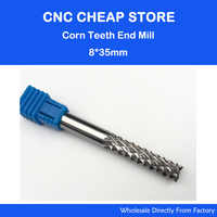 1pc 8*35mm Good Qualtiy Tungsten Steel Carbide End Mill Engraving Corn Teeth Bits CNC PCB Rotary Burrs Milling Cutter Drill Bit