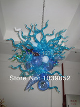 Hanging Led Blown Colored Glass Flower Chandelier Light