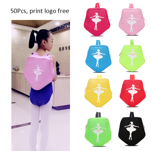 Pink/Green Dance Bags For Ballet Girls Ballet Dance Bag 10 Colors Star Style Ballet Bag Dance Backpack Ballerina Shoulder Bag