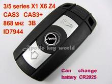 3 Кнопка Смарт-Ключ Для BMW 3 5 серии X1 X6 Z4 С ID7944 Chip 868 МГц Автомобильная Сигнализация Keyless Entry Fob (CAS3 CAS3 + Система)