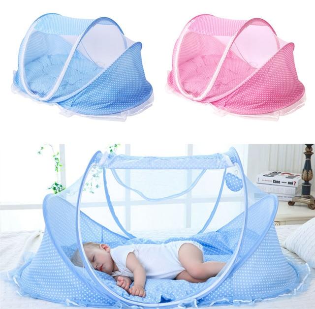 2813242011ab9d Nieuwe Draagbare Zachte Baby Wieg 0-3 Jaar Beddengoed Klamboe Opvouwbare  Bed Katoen Slaap Reizen