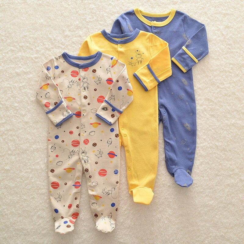 HTB1QmR9aAfb uJkSndVq6yBkpXa5 Baby Girl Romper Newborn Sleepsuit Flower Baby Rompers 2019 Infant Baby Clothes Long Sleeve Newborn Jumpsuits Baby Boy Pajamas