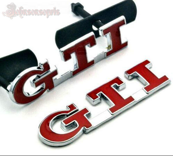 1 PCS Red GTI Front Grille Grill Emblem GTI Badge Sticker Car Boot Fender For MK7 Car Styling metal red st front grille sticker car head grill emblem badge chrome sticker for ford fiesta focus mondeo auto car styling