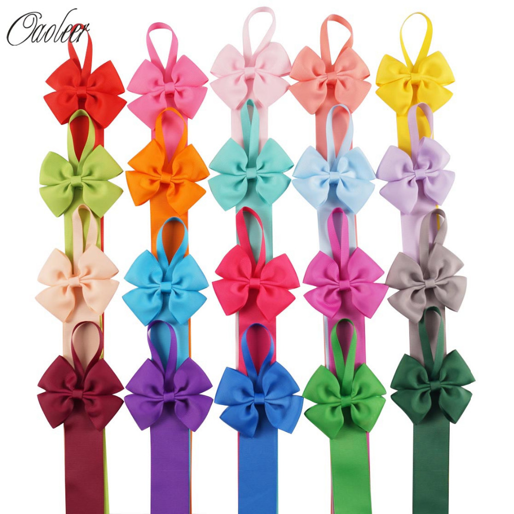 6pcs/lot 66CM Girls Solid Color Hair Bow Holder Handmade Girl Barrette Holder Princcess's Hair Accessories handmade gray faux leather hair barrette wood stick pin