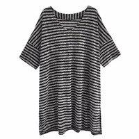 Streifen Mutterschaft frauen Neue Kurzarm Schwangere Tees hemd Large Size Lose Stillzeit T-shirts Fütterung Tops Camiseta