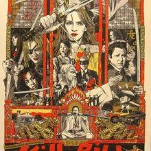 Arte de matar a Bill película Retro Vintage de póster Sci-fi cartel de pintura de la lona de la pared DIY adornos de pared de papel, regalo de decoración