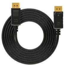 Кабель порта дисплея 1,8 м штекер-папа порт дисплея кабель адаптер для компьютера для ТВ разъем Дисплей порт HD ТВ проектор 4 K