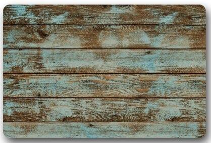 Delicieux Rustic Old Barn Wood Door Mats Cover Non Slip Indoor Bathroom Kitchen Decor  Rug Mat Welcome Doormat