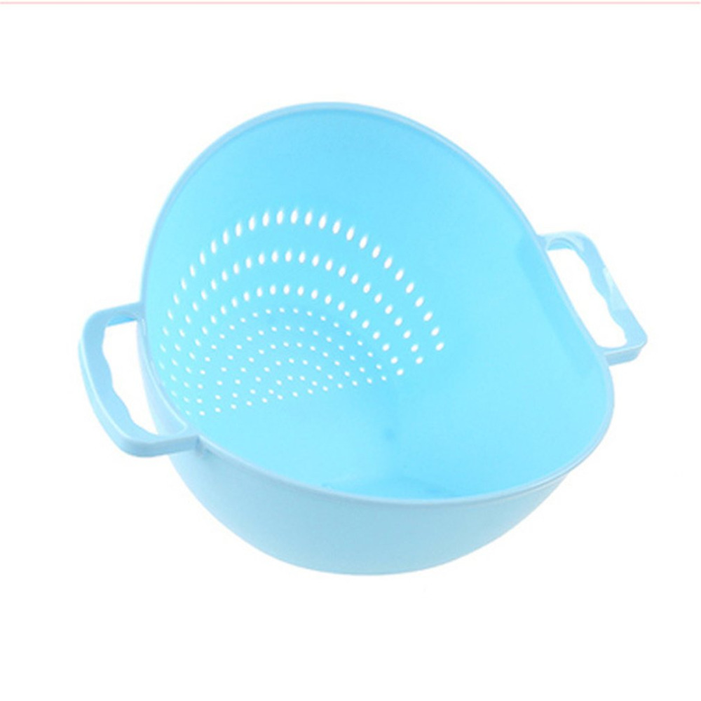 1PC Practical Double Handle Wash Rice Vegetable Basket Strainer ...