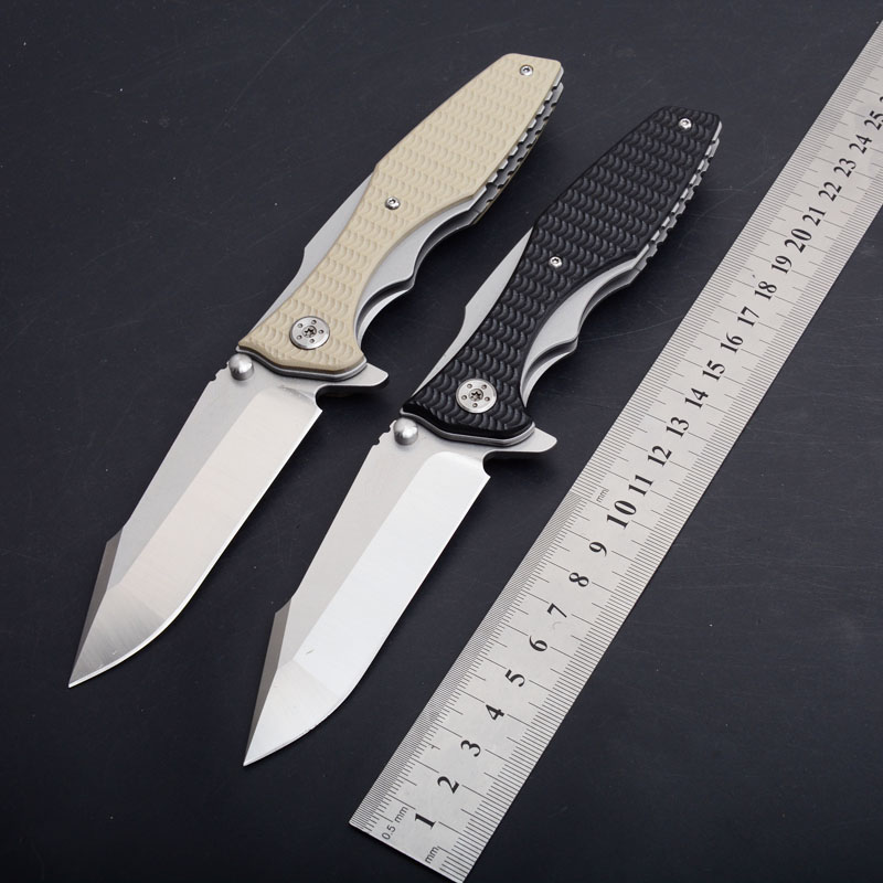 ZT0393 9cr14mov Blade G10 handle folding knife ball bearing flipper Outdoor Camping Hunting Survival Utility EDC Knife Tool GiftZT0393 9cr14mov Blade G10 handle folding knife ball bearing flipper Outdoor Camping Hunting Survival Utility EDC Knife Tool Gift