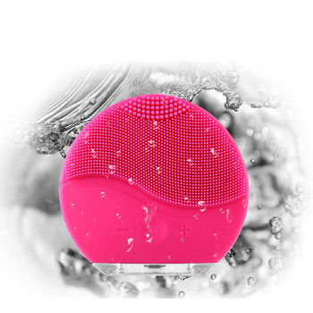 ZD Facial Electric Cleansing Brush Sonic Vibration Mini Face Cleaner Silicone Deep Pore Cleaning Waterproof Skin Massage CO867