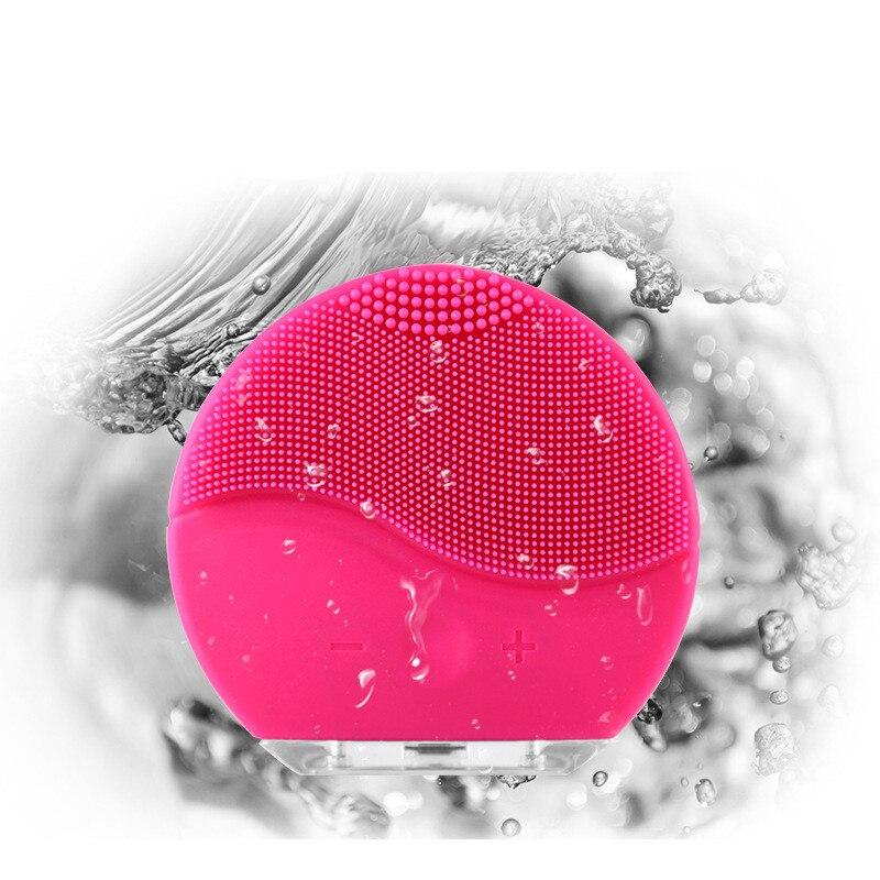 ZD Du Visage Électrique Nettoyage Brosse Sonic Vibration Mini Visage Cleaner Silicone Profonde Pores De Nettoyage Peau Imperméable À L'eau De Massage CO867