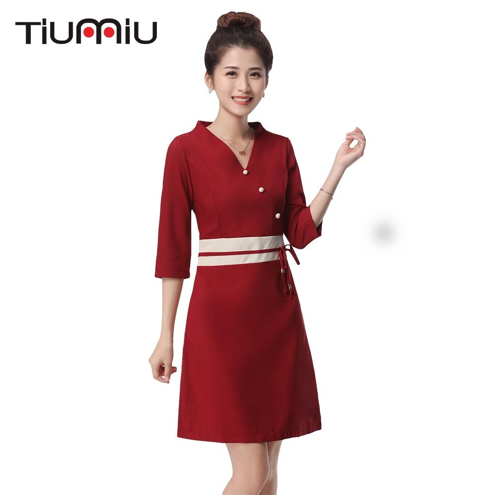 2018 New Arrival Hotel Uniform Lab Dress Women Long Sleeved Medical Uniform Attire Beauty Salon SPA Fashion Workwear Clothing