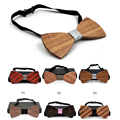 The Newest Stripe Tie Europe and the middle age Male Dance Party  Tie Stripes Solid Wood  Tie