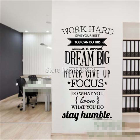 free shipping Dream Big Inspiration Quote Wall Stickers, DIY Home Decoration Wall Art Decor Wall Decal size 58x95cm